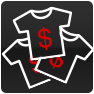 Bulk t-shirt prices icon