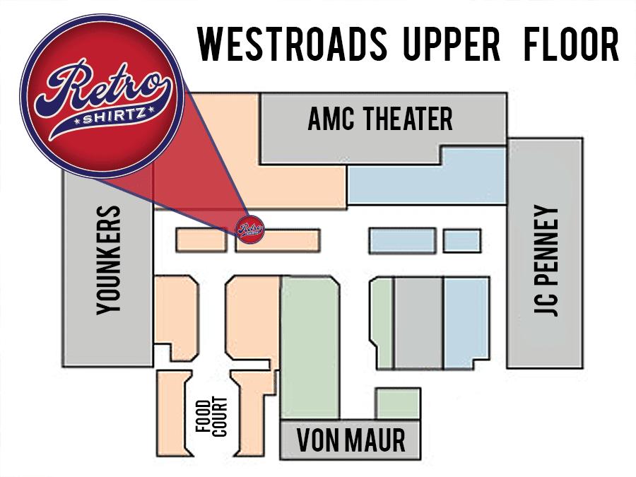 Westroads Mall Map - Retro Shirtz