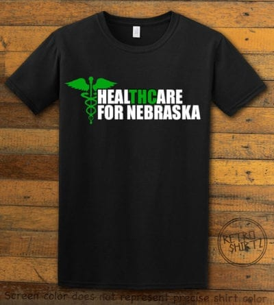 Nebraska Medical Marijuana Black Shirt EC001