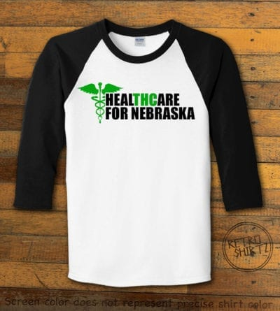 Nebraska Medical Marijuana Black Baseball EC002