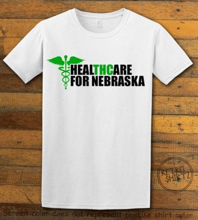 Nebraska Medical Marijuana White Shirt EC002