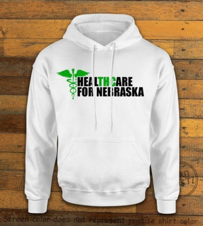 Nebraska Medical Marijuana White Hoodie EC002
